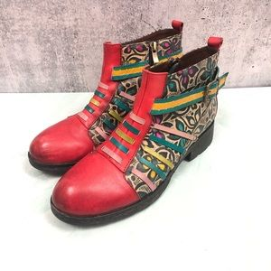 Socofy floral multicolored booties size eur 37